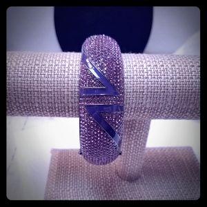 AKKAD amethyst and purple enamel bracelet